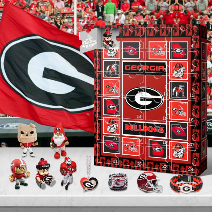 Georgia Bulldog  Advent Calendar 2021-- The One With 24 Little Doors
