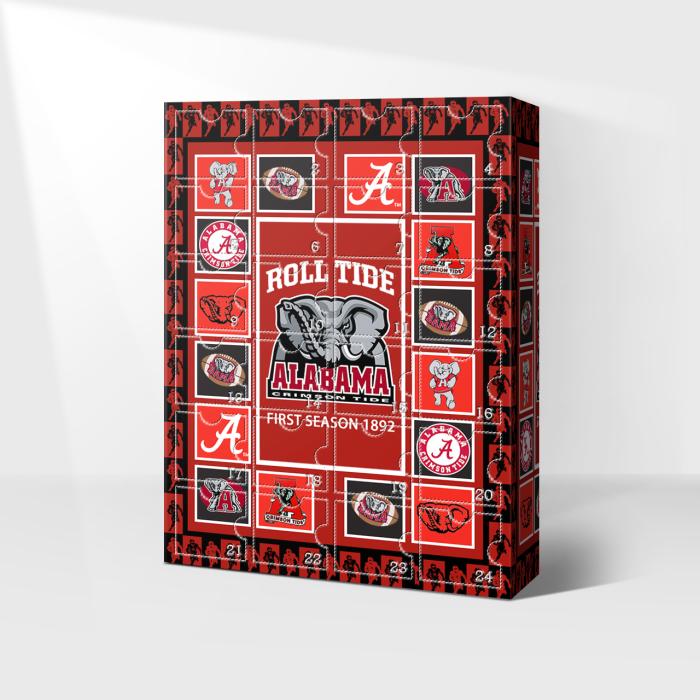 Alabama Crimson Tide Advent Calendar 2021-- The One With 24 Little Doors