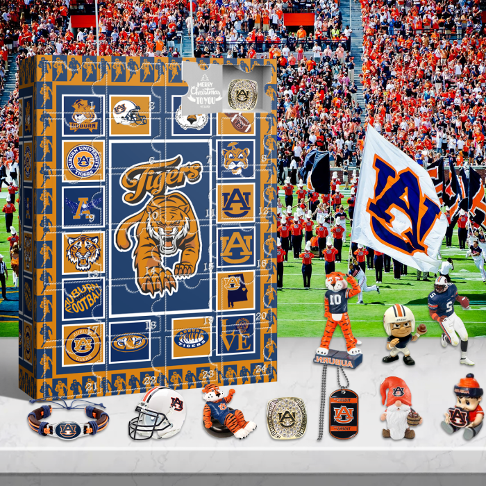 Auburn Tigers Advent Calendar 2021-- The One With 24 Little Doors