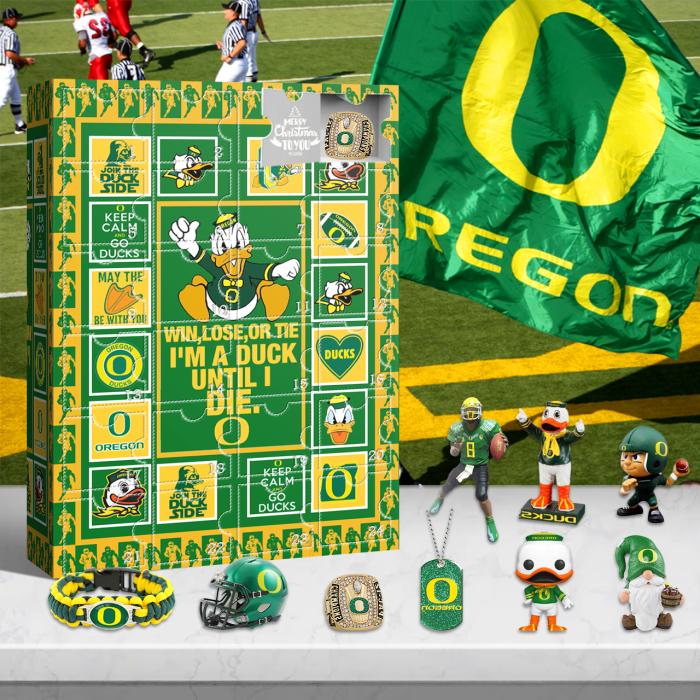 Oregon Ducks Advent Calendar 2021-- The One With 24 Little Doors