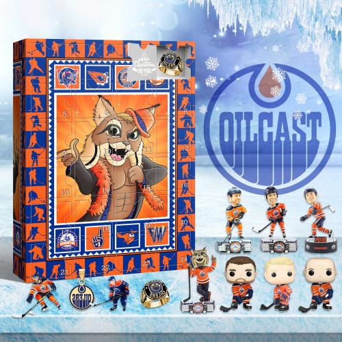 Edmonton Oilers Advent Calendar 2021-- The One With 24 Little Doors