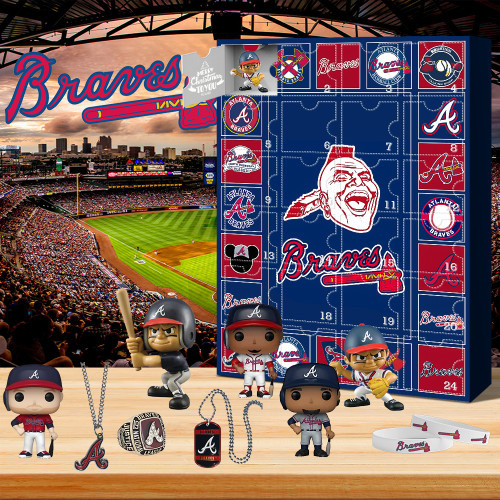 Atlanta Braves Advent Calendar🎁24 Gifts Are In It