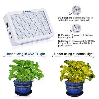 Roleadro Grow Light, 1000W LED Grow Light Full Spectrum Galaxyhydro Series Plant Light for Indoor Plants with IR for Greenhouse, Hydroponics, Seedlings, Veg and Flower