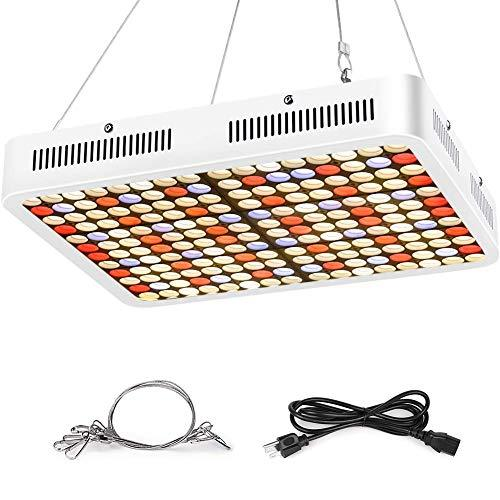 Roleadro LED Grow Light for Indoor Plants, 1500W Grow Light with Upgraded LM301H & 3500K & Red Full Spectrum Grow Light Sunlike Plants Lights for Seedlings Succulents Garden Plant Growing Lamps