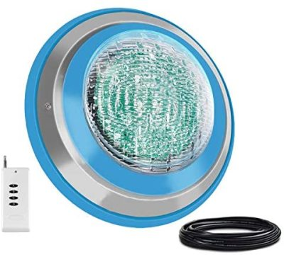 Roleadro Led Pool Light, Waterproof IP68 47W RGB Swimming Pool Lights Multi Color(Not Include White) , 12V AC/DC Led Inground Pool Light Control with Remote Controller(Not Include Battery )- 6ft Cord
