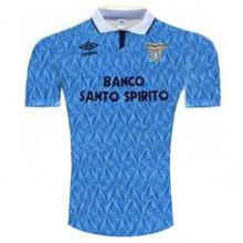 1991-1992 Lazio Home Blue Retro Soccer Jersey