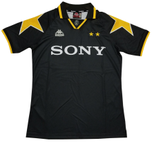 1996-1997 JUV Away Black Retro Soccer Jersey