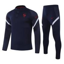 2020/21 France Black Sweater Tracksuit