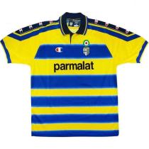 1999-00 Parma Home Yellow Retro Soccer Jersey