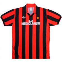 1991-1992 AC Milan Home Retro Soccer Jersey