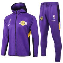 2020/21 LA Lakers Purple Hoody Zipper Jacket Tracksuit(湖人)
