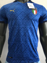 2020 Euro Italy Home Blue  Player Version Soccer Jersey