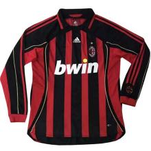 2006-2007 AC Milan Home Long Sleeve Retro Soccer Jersey