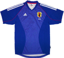2002 Japan Home Blue Retro Soccer Jersey