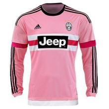2014/15 JUV Pink Retro Long Sleeve Soccer Jersey