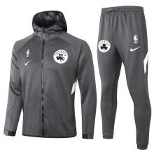 2020/21 Celtics Grey Hoody Zipper Jacket Tracksuit(凯尔特人)