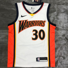 2021 Warriors CURRY #30 White NBA Jerseys Hot Pressed