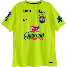 2021 Brazil Home Light Green Training Soccer Jersey
