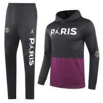 2020/21 PSG JD Black Purple Hoodie Training Tracksuit