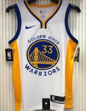 2021 Warriors WISEMAN #33 V-Neck White NBA Jerseys Hot Pressed
