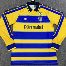 1999-2000 Parma Home Yellow Long Sleeve Retro Soccer Jersey