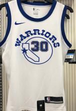 Warriors CURRY #30 White Socks NBA Jerseys Hot Pressed