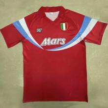 1990/91 Napoli Special Red Retro Soccer Jersey