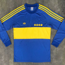 1981 Boca Home Retro Long Sleeve Soccer Jersey
