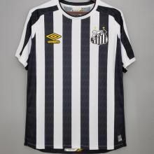 2021/22 Santos 1:1 Qualit  Away Black White Fans Soccer Jersey