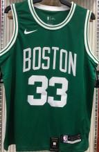 Celtics BIRD #33 Green NBA Jerseys Hot Pressed