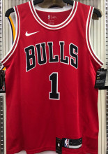 Bulls ROSE #1 Red NBA Jerseys Hot Pressed