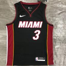 2021 Miami Heat WADE #3 Black NBA Jerseys Hot Pressed