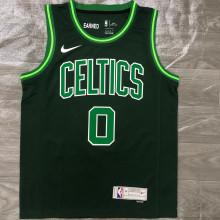 2021 Celtics TATUM #0 EARNED Edition Green NBA Jerseys Hot Pressed