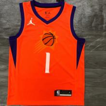 2021 Suns BOOKER #1 Jordan Orange NBA Jerseys Hot Pressed