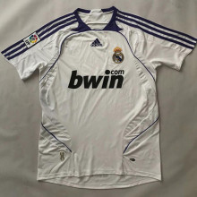 2007/08 RM White Home Retro Soccer Jersey