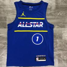 2021 ALL STAR WILLIAMSON # 1 JD Blue NBA Jerseys Hot Pressed