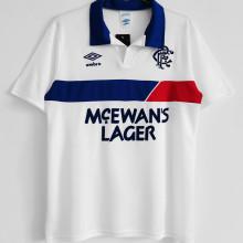 1994 Rangers Away White Retro Soccer Jersey