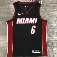 2021 Miami Heat JAMES #6 Black NBA Jerseys Hot Pressed