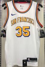 Warriors DURANT #35 White NBA Jerseys Hot Pressed