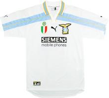 2000/01 Lazio White Retro Soccer Jersey