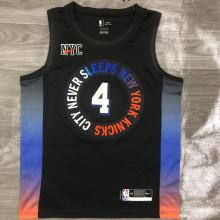 2021 NY Knicks ROSE # 4 City Edition NBA Jerseys Hot Pressed
