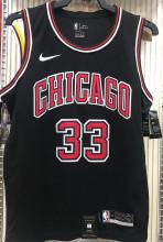 Bulls PIPPEN#33 Black NBA Jerseys Hot Pressed