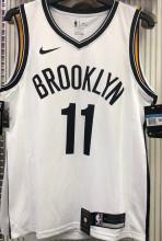 Nets Irving #11 White NBA Jerseys Hot Pressed