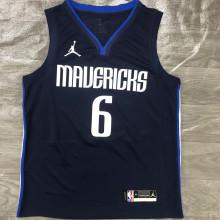 Mavericks Jordan Porzingis # 6 Royal Blue NBA Jerseys Hot Pressed