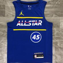 2021 ALL STAR MITCHELL # 45 JD Blue NBA Jerseys Hot Pressed