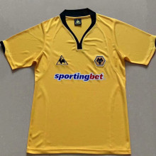 2010 Wolves Home Yellow Retro Soccer Jersey