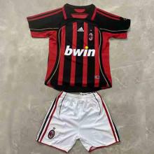2006/2007 AC Home Retro Kids Soccer Jersey
