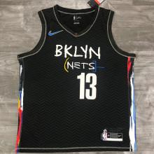 2021 Nets Harden #13 City Edition Black NBA Jerseys Hot Pressed