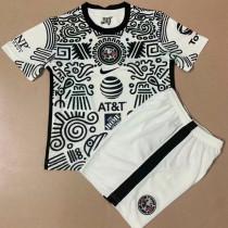 2021 Club America White Black Kids Soccer Jersey