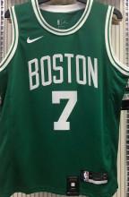 Celtics BROWN #7 Green NBA Jerseys Hot Pressed